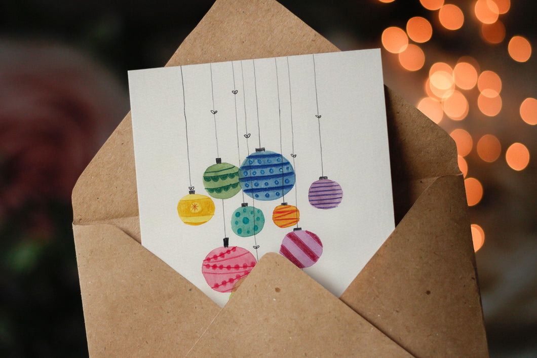 Christmas Tree Decorations - Set Of 3 Mini Cards