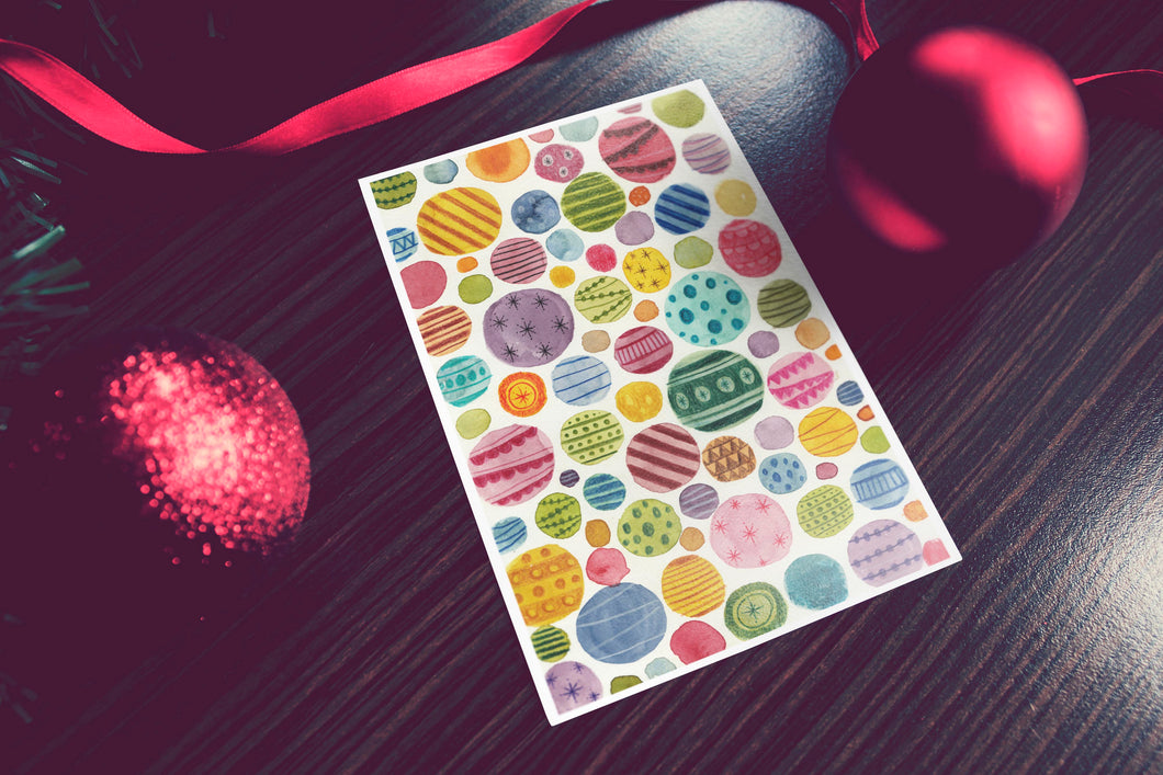 Christmas Decorations Pattern Card