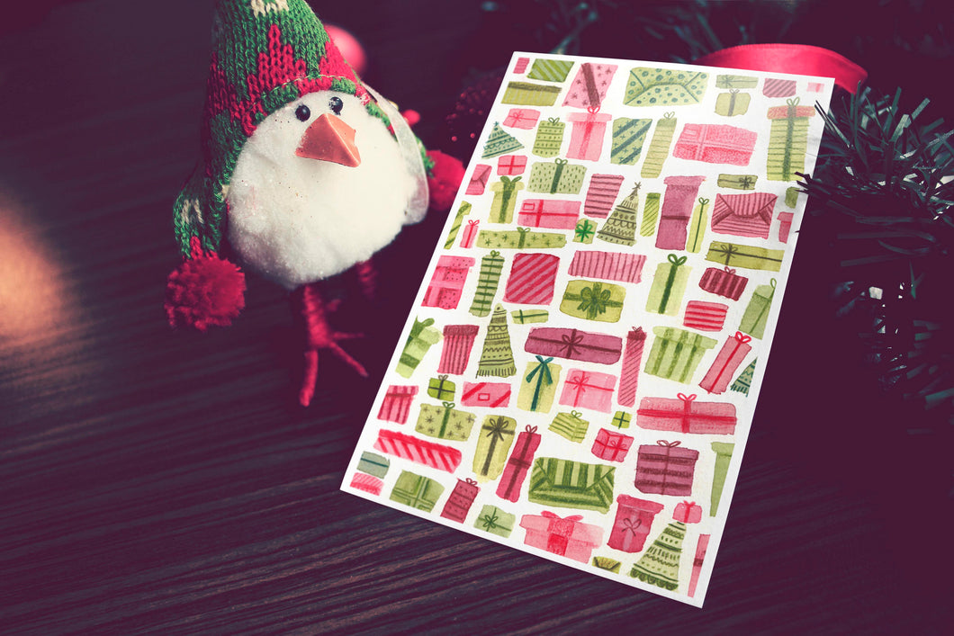 Christmas Gifts Pattern Card