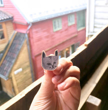 Kitty Wooden Pin
