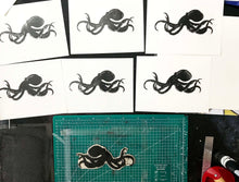 Octopus Handprinted Illustration