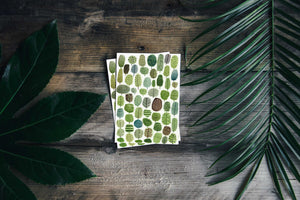 Trees Pattern - Set Of 3 Mini Cards