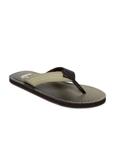 Puma Ketava GU IDP Chocolate Brown and Pale Khaki Flipflops
