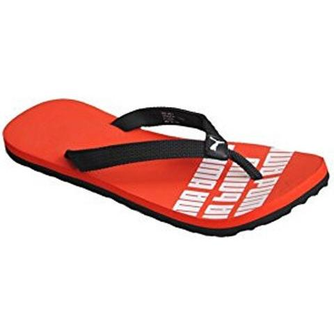 Puma Issac DP - Red and Black  flipflops