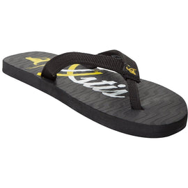 Xystis designer Black and Yellow flipflops