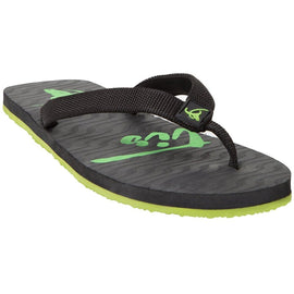 Xystis Black and Bright Green Flipflops
