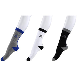 Adidas Half Cushion Crew Socks - Pack of 3 (Grey/Melange/White)