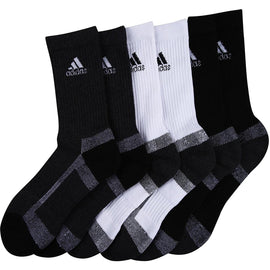 Adidas Half Cushion Crew Socks - Pack of 3 (Black/Anthra/White)
