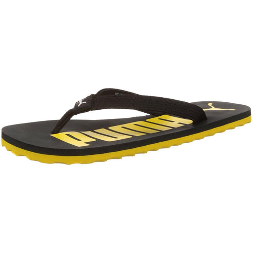 Puma Men's White Dark Shadow, Puma Black and Dandelion Flip Flops Thong Sandals