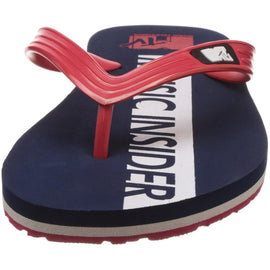 MTV Men's Navy Blue and Red Flip Flops Thong Sandals
