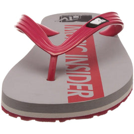 MTV Men's Grey and Red Flip Flops Thong Sandals