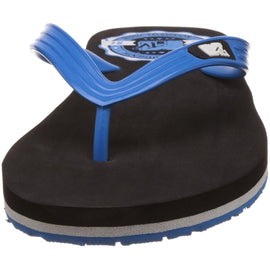 MTV Men's Black and Aqua Flip Flops Thong Sandal