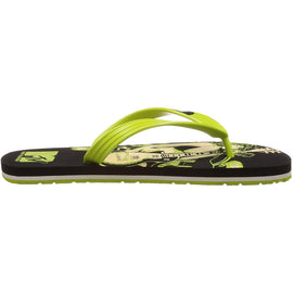MTV Men's Black and Lime Green Flip Flops Thong Sandals