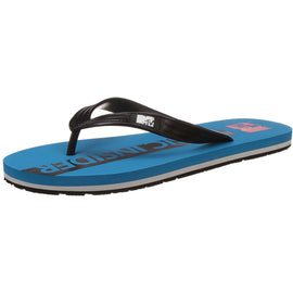 MTV Men's Aqua and Black Flip Flops Thong Sandal