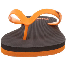 Puma Unisex Odius IDP H2T Puma Black and Vibrant Orange Flip Flops Thong Sandals