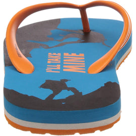 MTV Men's Aqua and Orange Flip Flops Thong Sandal