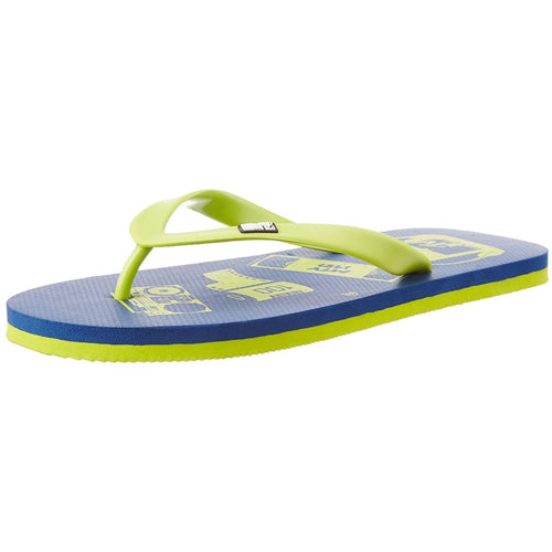 MTV Men's Navy Blue and Lime Green Flip Flops Thong Sandals