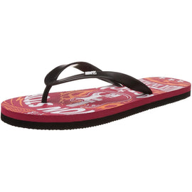 MTV Men's Red and Black Flip Flops Thong Sandals