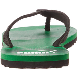 Puma Men's Puma Black, Amazon Green and White Flip Flops Thong Sandals