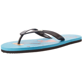 MTV Men's Aqua Black Flip Flops Thong Sandals