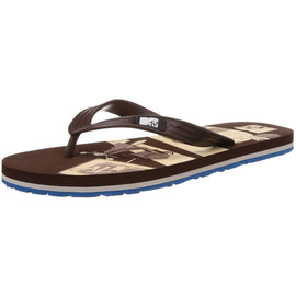 MTV Men's Brown and Aqua Flip Flops Thong Sandals