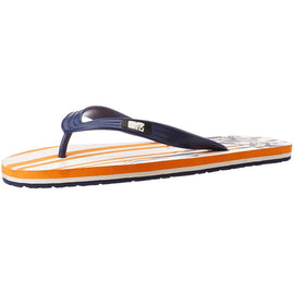 MTV Men's Orange / Navy Blue Flip Flops Thong Sandals