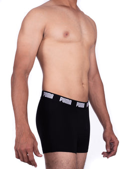 Puma Men's Black Boxer Trunks