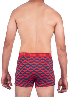 Puma Fashion Navy and Red Boxer Trunks
