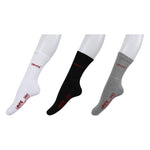 Levi's Full Cushion Crew Socks - Pack of 3 ( Grey/White/Black)