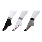 Levi's Full Cushion Mid Cut Men's Socks - Pack of 3 ( Grey/White/Black)