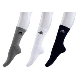 Adidas Half Cushion Crew Socks - Pack of 3 ( Navy/Grey/White)