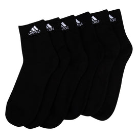 Adidas half cushion high Quarter  Socks - Pack of 3 ( Black/Black/Black)