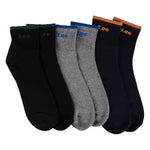 Lee Men's High Ankle Full Cushion Socks - Pack of 3 ( Eclipse/Grey/Black)