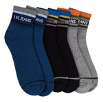 Lee  High Ankle Full Cushion Socks - Pack of 3 ( Dark Blue/Medium Grey/Black)