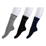 Wrangler Half Cushion Crew Socks - Pack of 3(Grey/Black/Peacoat)