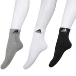 Adidas Half Cushion High Quarter Socks - Pack of 3 (Grey Mel/White/Anthra)