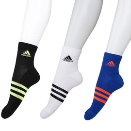 Adidas Select Terry Ankle Socks - Pack of 3 ( Royal Blue/White/Black)