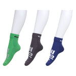Reebok  Mens Terry Socks - Pack of 3 ( Midnight Blue/Bright Green/Ash Grey)