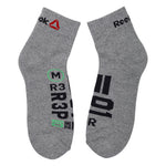 Reebok  Mens Terry Socks - Pack of 3 ( Blue Sport/White/Mel Grey)