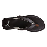 Puma Ketava Black  and Coffee Brown Flipflops