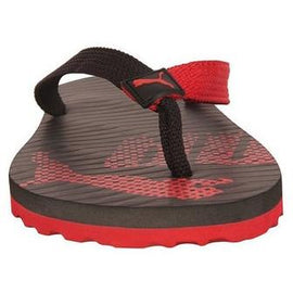 Puma Unisex Miami 6 DP Black High Risk Red Floaters and Flip Flops