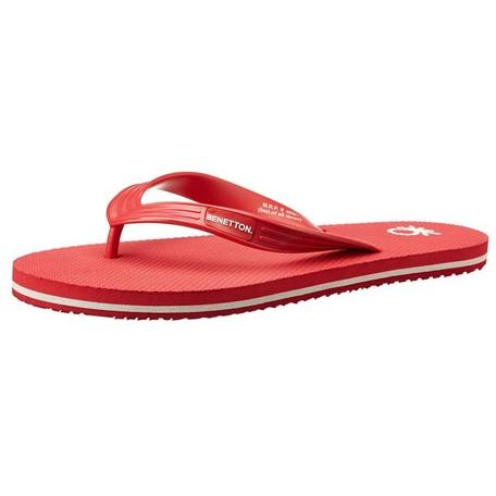 United Colors of Benetton Men's Fashion 15 SS 5 Red Flip-Flops and House Slippers