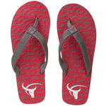 Xystis Classic Red and Grey designer flipflops