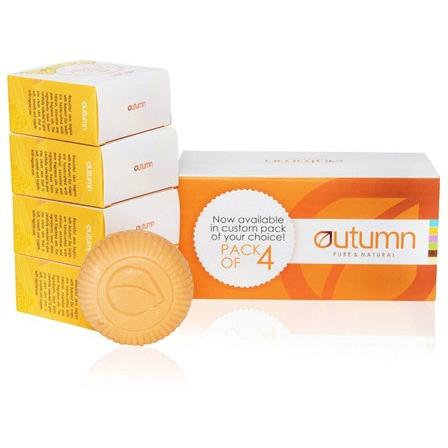 Autumn Sandal and Turmeric Soap - Pack of 4