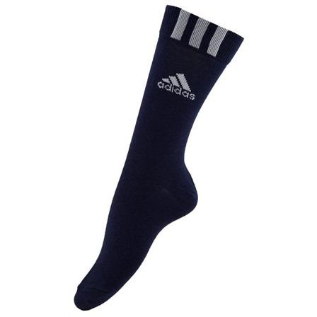 Adidas Mens Flat Knit Crew Socks (Pack of 3)  -Navy/White/Black