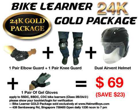 SSDC BBDC CDC Bike learner 24Kgold package