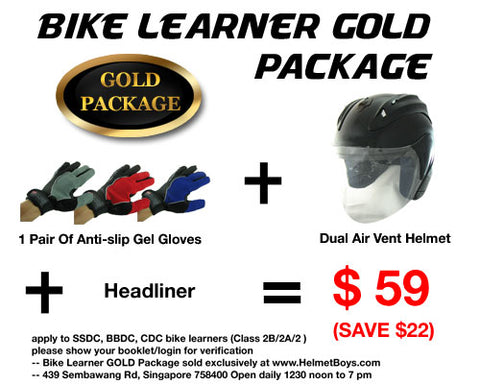SSDC BBDC CDC Bike learner gold package