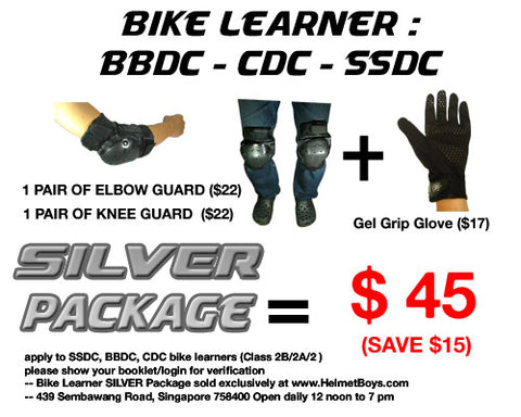 SSDC BBDC CDC bike learner SILVER package