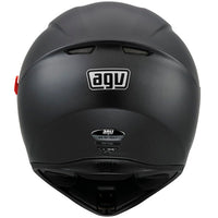 AGV K3 SV Full Face Helmet matt black back view