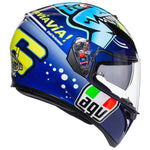 AGV K3 SV Full Face Motorcycle Helmet MISANO VALENTINO ROSSI side view